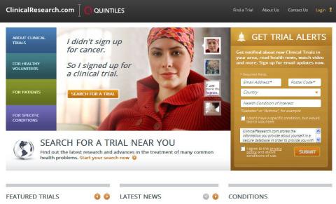 昆泰旗下www.ClinicalResearch.com网站(照片:美国商业资讯)