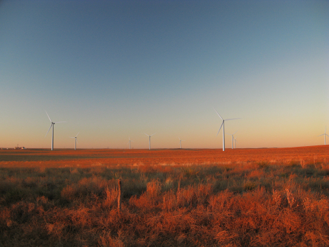 GE is providing capital and technology for a wind farm under construction in Kansas that will harness the wind in the American heartland to provide clean electricity to the eastern United States. Link to digital rendering: http://bit.ly/Z3p49j (Photo: Business Wire)