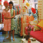 Lilly in her first shop off Via Mizner in Palm Beach in 1962 (Photographed by Howell Conant)