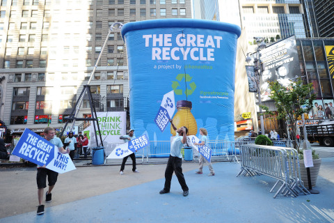 The Great Recycle launched in Times Square, NYC last April. (Photo: Business Wire)