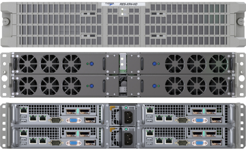 RES-XR4 HD System (Configuration One - Four XR4-HDC Modules - Eight Processor Sockets, Twelve High-B ...