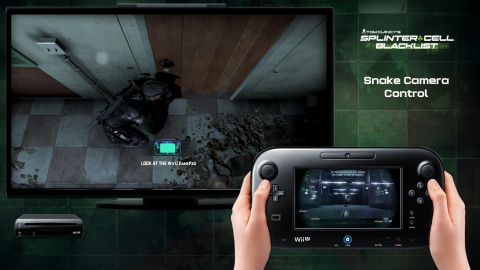 Showcasing enhanced game-play features using the Wii U GamePad controller, Tom Clancy's Splinter Cell Blacklist allows players to operate innovative gadgets, take out enemies and move through the environment, and intuitively switch between weapons, among other features. (Graphic: Business Wire)
