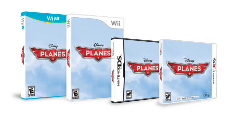 """Wii U, Wii, 3DS and DS Box Art for the """"Disney's Planes"""" video game. (Photo: Business Wire)"""