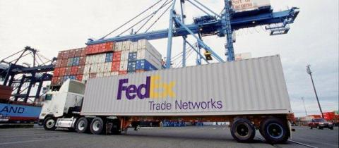FedEx Trade Networks Trailer (Photo: Business Wire)