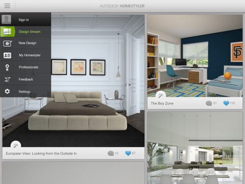 new autodesk homestyler app transforms your living space into design playground business wire. Black Bedroom Furniture Sets. Home Design Ideas