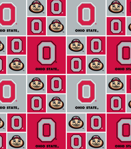 Ohio State University Block Cotton Print - one of seven OSU fabrics available exclusively at Jo-Ann  ...