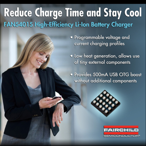 Fairchild Semiconductor's Eco-Friendly Battery Charger Reduces Charge Time and Powers USB Peripheral ...