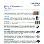 Galaxy S 4 Accessories Fact Sheet