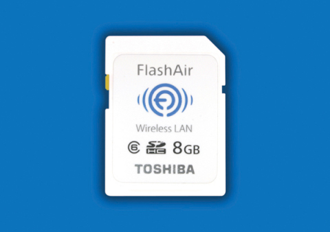 """FlashAir(TM)"", Toshiba SDHC Memory Card with Embedded Wireless LAN Communications (Photo: Business  ..."