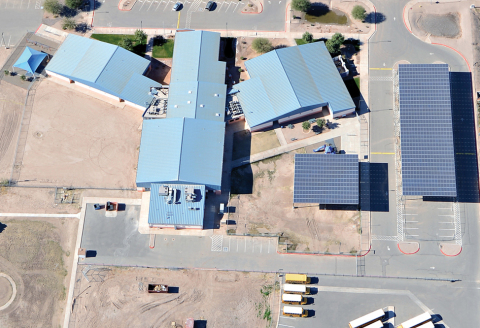 Constellation's 1.6-megawatt solar energy project for Somerton School District in Yuma County, Ariz. ...