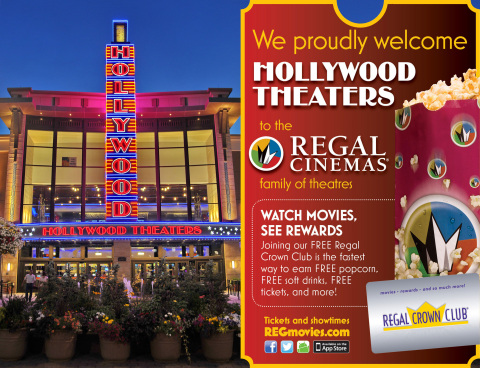 Regal Entertainment Group invites moviegoers at Hollywood Theaters to join the club. Source: Regal Entertainment Group