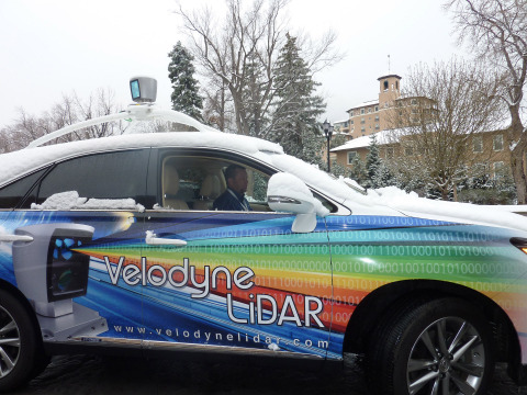 Velodyne LiDAR engineer Rick Yoder drives LiDAR car (Photo: Velodyne)