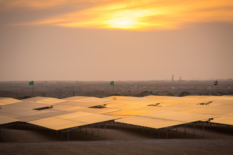 Africa's largest solar photovoltaic power plant located in Mauritania. (Photo Credit: Clement Tardif ...
