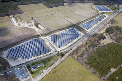 The 3.66-megawatt grid-connected, solar energy project for the University of Maryland Medical System will generate an estimated 4.7 million kilowatt-hours of electricity annually. (Photo: Constellation)