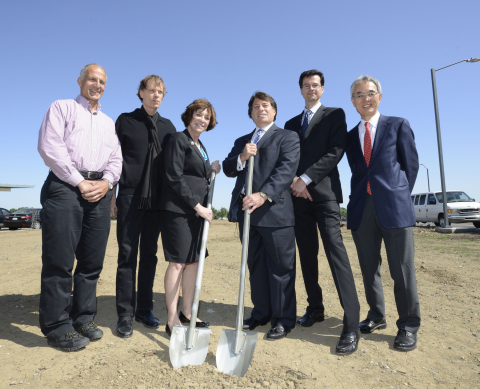Representatives from Honda and University of California, Davis prepare to break ground for the Honda ...