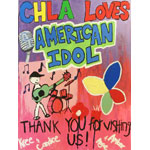 Children's Hospital Los Angeles' young patients thanked AMERICAN IDOL for visiting by making a special card for the Top 4 contestants! Thanks for having us on the Top 4 performance show! (Photo: Business Wire)