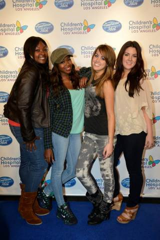 Children's Hospital Los Angeles was featured on AMERICAN IDOL Wednesday night! Earlier this week, Candice Glover, Amber Holcomb, Angie Miller and Kree Harrison met with patients and gave a private concert at the hospital! Want to help Children's Hospital Los Angeles make sick kids better? Please donate! Go to www.chla.org/idol (Photo: Business Wire)