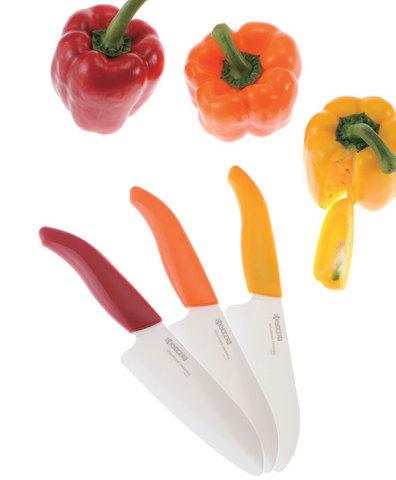 京瓷彩色系列精密陶瓷厨房用刀 (图示:美国商业资讯)