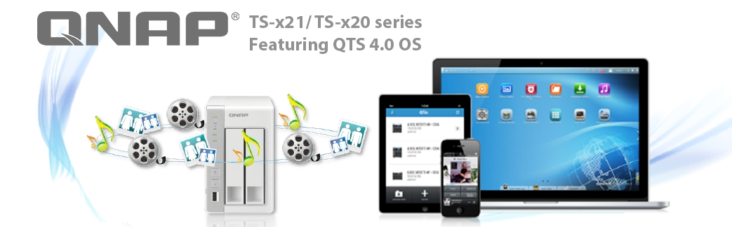 Introducing the new series for home users- TS-x20 and TS-x21 Turbo NAS (Photo: Business Wire)