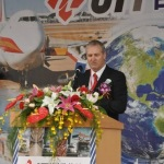 Brian Dangerfield, UTi Asia Pacific President, speaks at grand opening of UTi's Taiwan logistics center. (Photo: Business Wire)