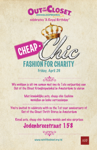 """Cheap Chic: Fashion for Charity"" event on Friday, April 26th will celebrate ""A Royal Birthday"" with royal acts, cheap chic models and fun surprises! (Photo: Business Wire)"