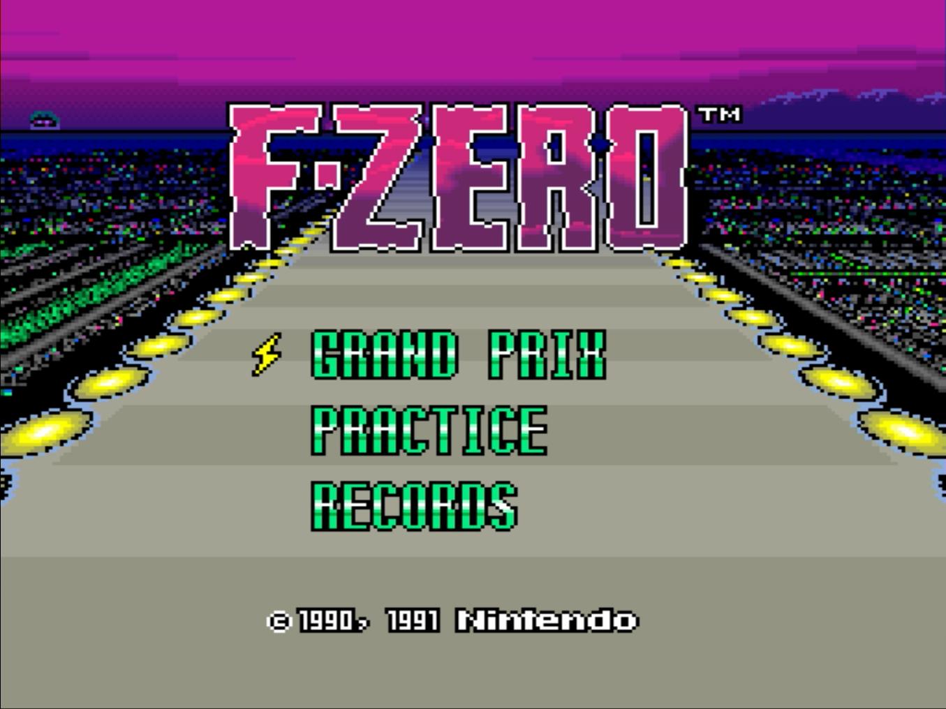 F-Zero Screenshot (Graphic: Business Wire)