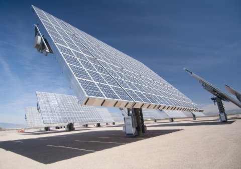 Amonix CPV Solar Power System (Photo: Business Wire)