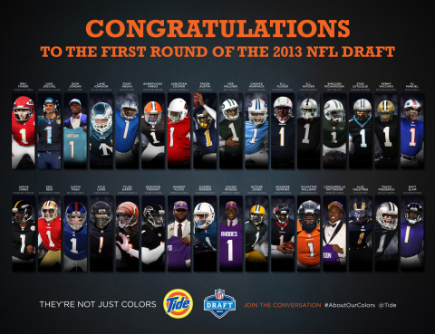 Tide, the proud keeper of your NFL team's colors, created this exclusive image of the first round pi ...