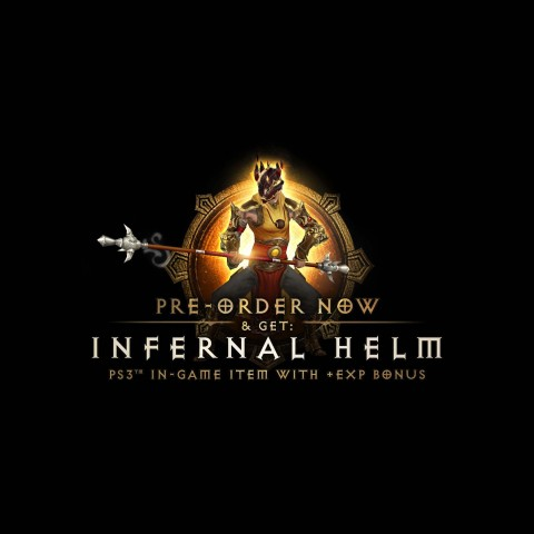 Receive the awesome in-game Infernal Helm with your preorder (Graphic: Business Wire)