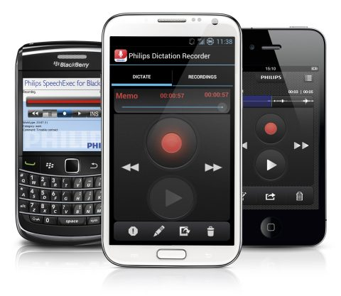 Philips dictation recorder for smartphones (Photo: Business Wire)