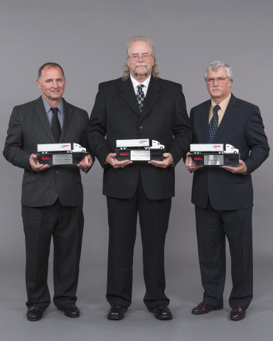 Driver of the Year winners, Charles Braun, Craig Vorwaller, and Wyman Watts. (Photo: Business Wire)