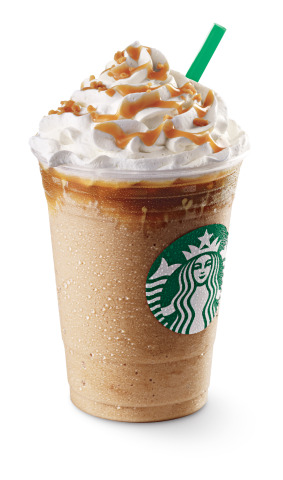 Starbucks New Caramel Ribbon Crunch Frappuccino(R) Blended Beverage (Photo: Business Wire)