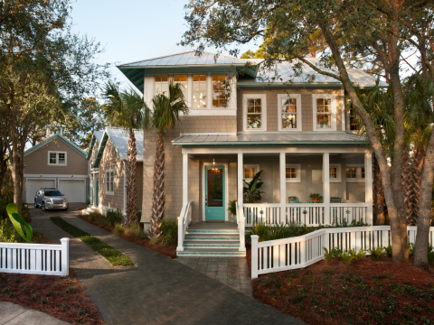 Inspired by shingle-style vacation homes constructed in Atlantic, Neptune and Jacksonville Beach com ...