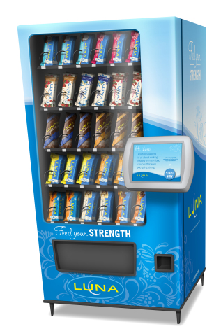 Contest participants have a chance to win a LUNA vending machine like the one pictured (Graphic: Business Wire)