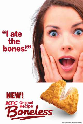 KFC Celebrates Launch of Revolutionary Original Recipe(R) Boneless with 'Happy Hour' Giveaway and 'I ...