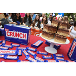Sweet Mandy B's Nestle Crunch Birthday Bar from Chicago is the grand prize winning treat in the Nestle Crunch 75th Birthday Showdown bakery competition (Photo: Casey Rodgers/Invision for Nestle Crunch)