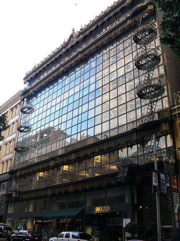 The restored facade of San Francisco's historic Hallidie Building, America's first all-glass curtain wall office building. (Photo: Business Wire)