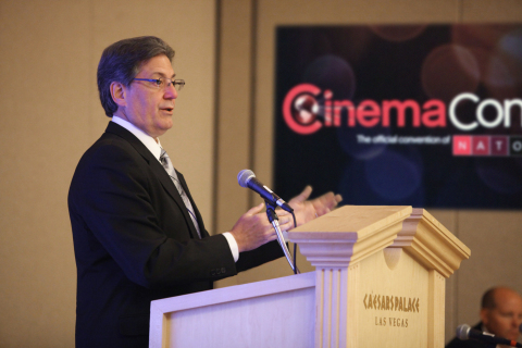 Randy Smith of Regal Entertainment Group leads panel discussion regarding closed captioning at CinemaCon in Las Vegas. Source: Regal Entertainment Group