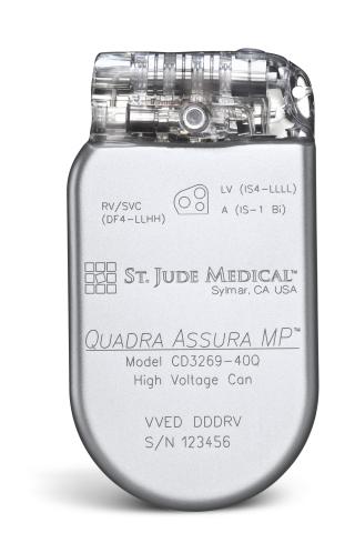 Quadra Assura MP(TM) CRT-D (Photo: St. Jude Medical).