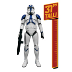 "In celebration of the upcoming Star Wars Day on May 4, JAKKS Pacific, Inc. (NASDAQ: JAKK) announced today that it has expanded its agreement with Lucasfilm to include the 501st Legion Clone Trooper in its 31"" Giant Figure lineup. Featuring seven points of articulation, highly"