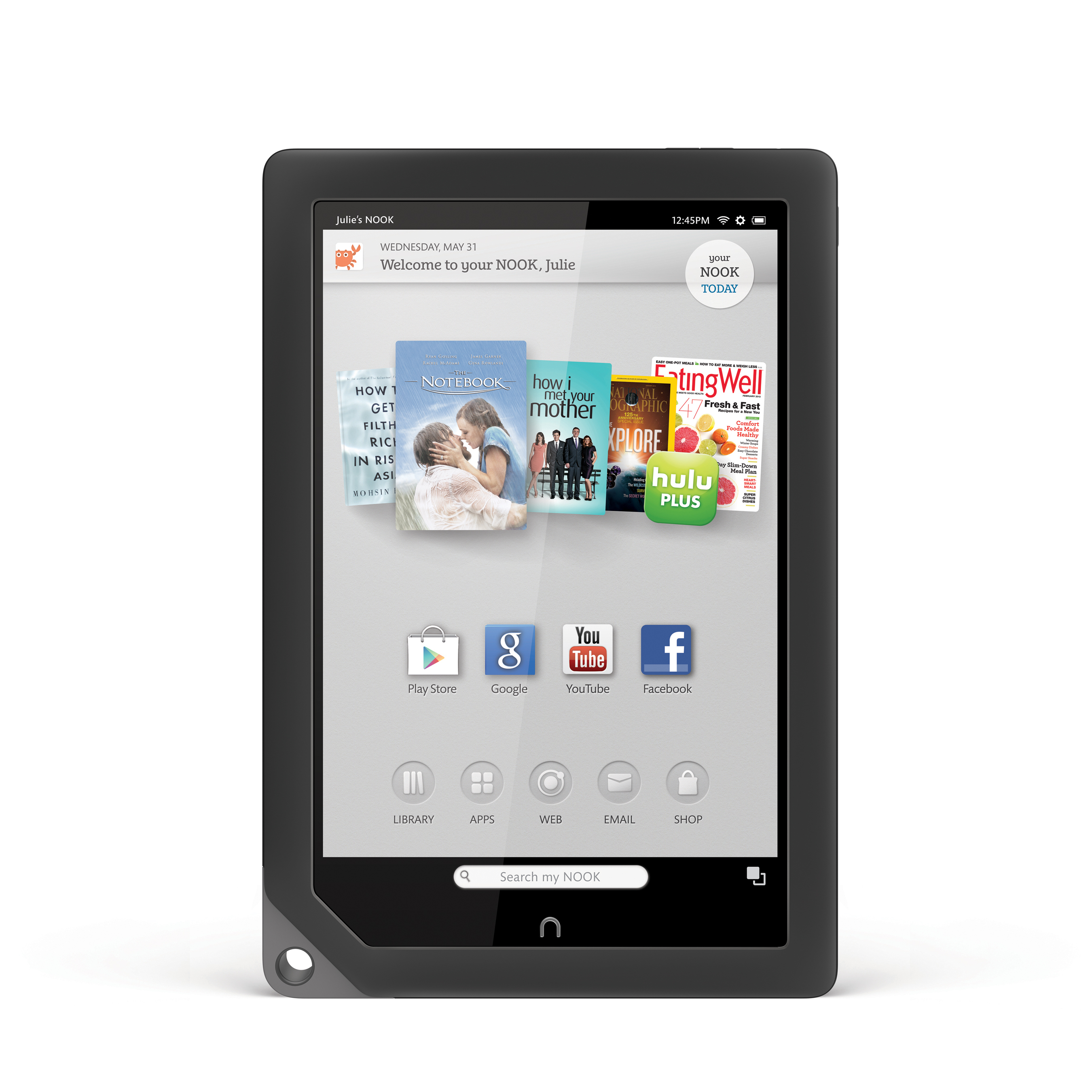 Barnes & Noble Announces Google Play™ On NOOK® HD And NOOK