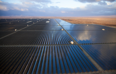 Currently the largest fully operational solar facility in California, NRG's Alpine Solar Generating Facility, a 66-megawatt station in Lancaster, Calif., celebrated its grand opening today with a ribbon-cutting event. (Photo: Business Wire)