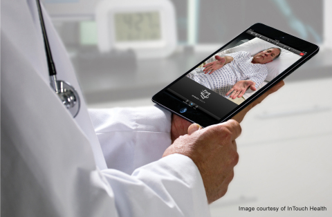 RP-VITA's iPad interface gives physicians easy access to 2-way audiovisual communications, patient data, medical images and robotic controls. (Photo: Business Wire)