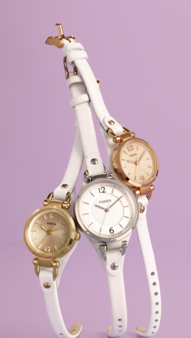 Fossil Goldtone, Silvertone and Rose Goldtone Watches, $75 - $95, available at Macy's (Photo: Busine ...
