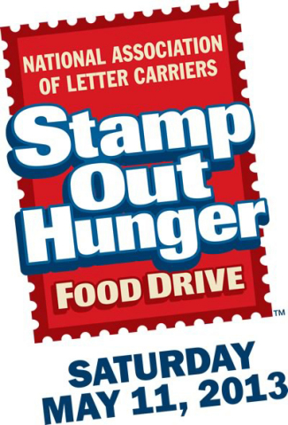 On Saturday, May 11, 2013, Campbell Soup Company (NYSE:CPB) will join forces with the National Association of Letter Carriers (NALC) to support Feeding America and help Stamp Out Hunger across America. Now in its 21st year, the annual food drive helps provide assistance to the millions of Americans struggling to put food on the table. (Graphic: Business Wire)