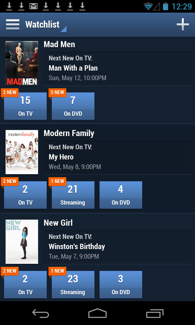 TV Guide Digital debuted its redesigned one-stop TV app for Android including the new feature Watchlist. (Photo: Business Wire)