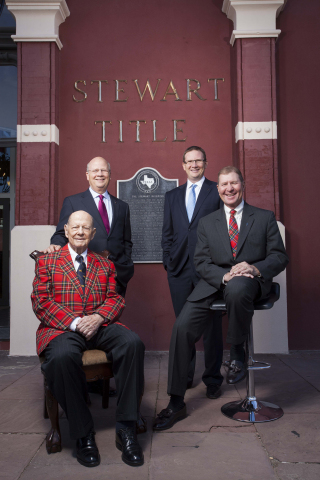 Three generations of Morris' gathered at the historic Galveston office, the original Stewart Title h ...