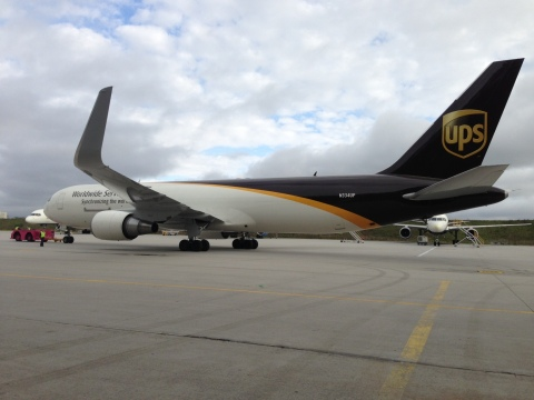 UPS unveils new look for its flagship Boeing 767s by adding winglets as part of its sustainability e ...
