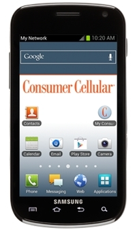 Samsung Galaxy Exhilarate now available through Consumer Cellular (Photo: Business Wire)