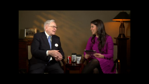 Warren Buffett and Caroline Ghosn Levo League Office Hours Live Chat (Photo: Business Wire)